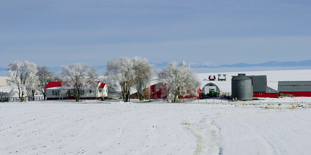Northern Idaho Farm in Winter