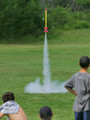 Model Rocket Launch, Boys at Summer Camp